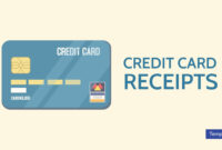 7+ Credit Card Receipt Templates – Pdf | Free & Premium in Credit Card Template For Kids