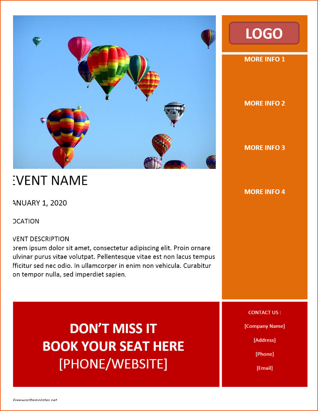 7+ Free Flyer Template Word - Bookletemplate For Templates For Flyers In Word