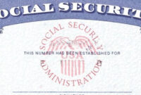 7 Social Security Card Template Psd Images – Social Security within Social Security Card Template Download
