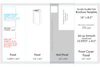 "8.5"" X 14"" Double Parallel Brochure Template – U.s. Press For Brochure Rubric Template"