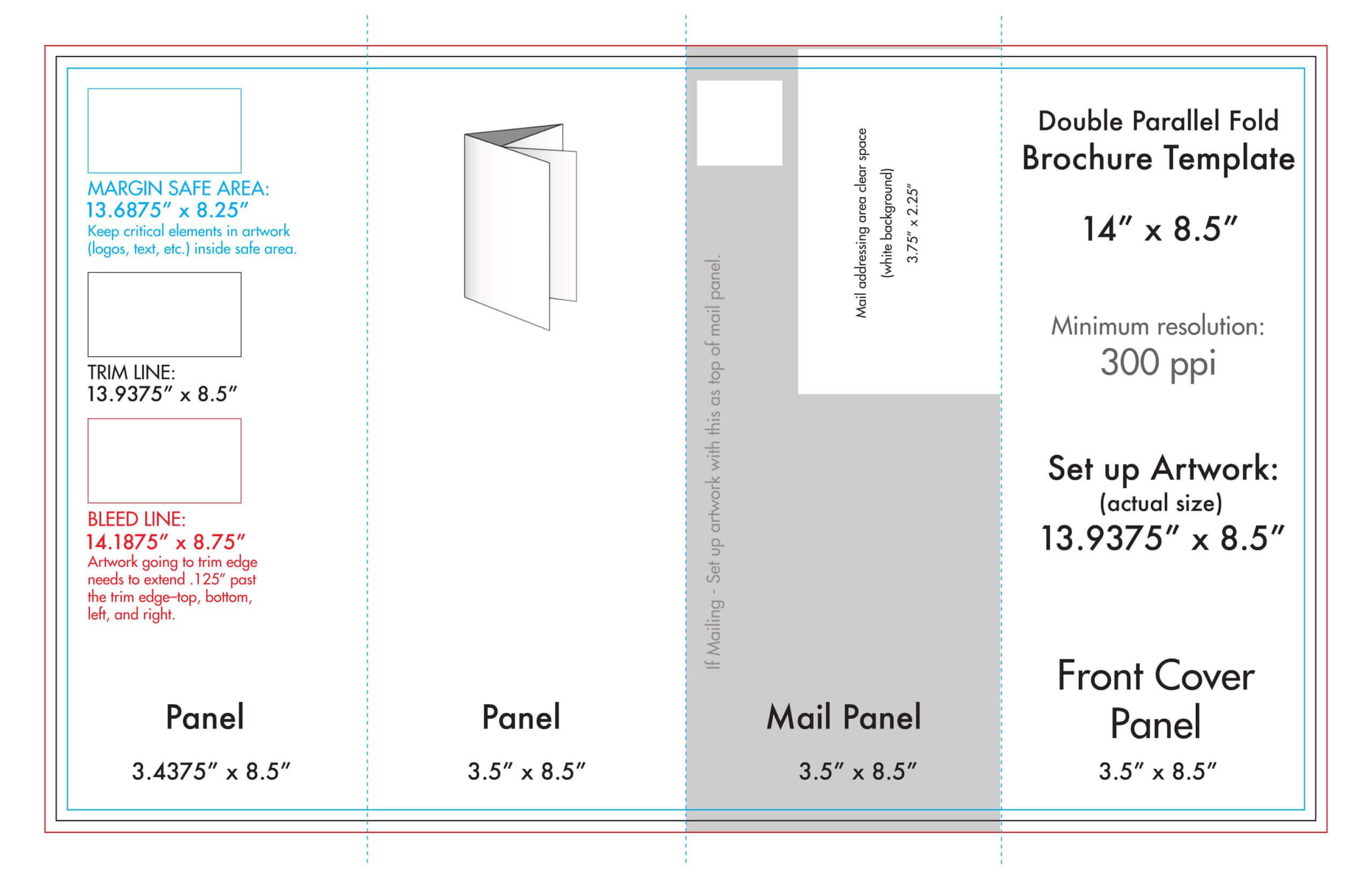 "8.5"" X 14"" Double Parallel Brochure Template – U.s. Press For Brochure Rubric Template"
