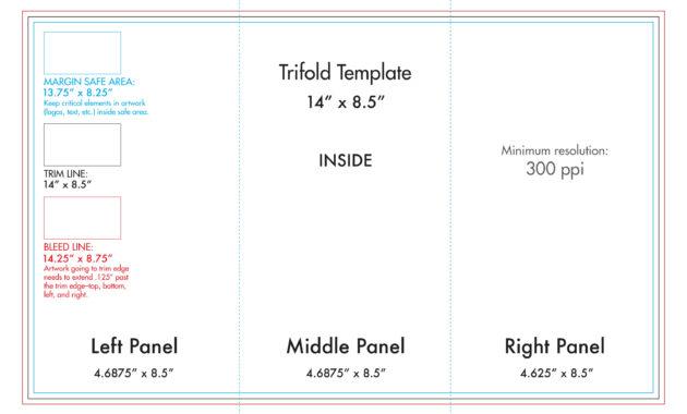 "8.5"" X 14"" Tri Fold Brochure Template - U.s. Press intended for Brochure Folding Templates"