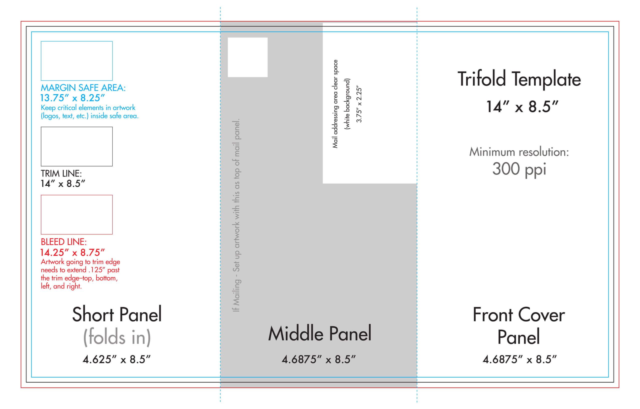 "8.5"" X 14"" Tri Fold Brochure Template - U.s. Press With Regard To 6 Sided Brochure Template"