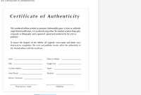 8 Certificate Of Authenticity Templates – Free Samples With Certificate Of Service Template Free