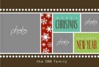8 Free Photoshop Christmas Card Templates Images – Photoshop intended for Free Christmas Card Templates For Photoshop
