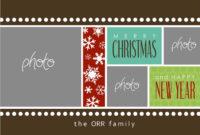 8 Free Photoshop Christmas Card Templates Images – Photoshop with regard to Christmas Photo Card Templates Photoshop