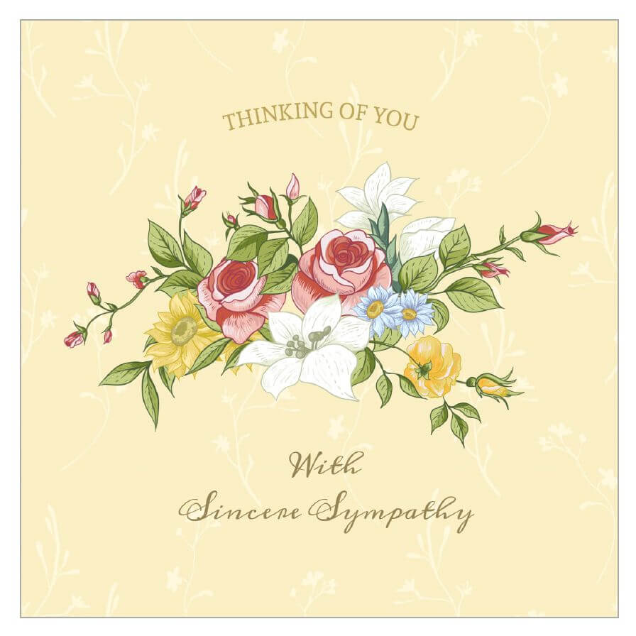8 Free, Printable Condolence And Sympathy Cards In Sorry For Your Loss Card Template