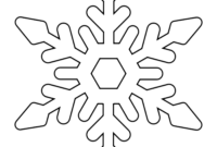 8 Free Printable Large Snowflake Templates – Simple Mom Project pertaining to Blank Snowflake Template