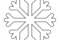8 Free Printable Large Snowflake Templates – Simple Mom Project with regard to Blank Snowflake Template