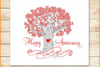 8+ Happy Anniversary Templates Free | Plastic Mouldings with Template For Anniversary Card