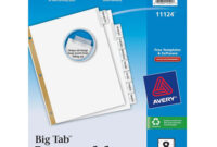 8-Tab Paper Dividers pertaining to 8 Tab Divider Template Word