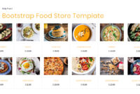 80+ Free Bootstrap Templates You Can't Miss In 2020 intended for Blank Food Web Template