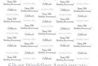8X8 Step Repeat Banner – Silver Wedding Anniversary in Step And Repeat Banner Template