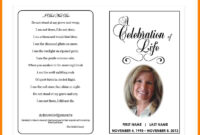 9+ Free Obituary Program Templates | St Columbaretreat House in Free Obituary Template For Microsoft Word