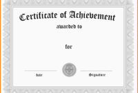 9+ Free Word Certificate Templates | Marlows Jewellers in Certificate Of Achievement Template Word