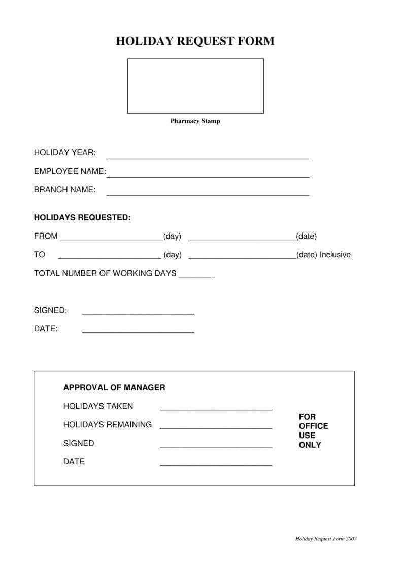 9+ Holiday Request Form Templates – Pdf, Doc | Free Within Travel Request Form Template Word