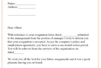 9+ Resignation Acceptance Letter Template [Examples within Certificate Of Acceptance Template