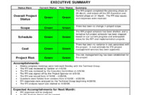 9+ Status Report Examples – Doc, Pdf | Examples regarding Executive Summary Project Status Report Template