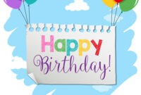 A Birthday Banner Template throughout Free Happy Birthday Banner Templates Download