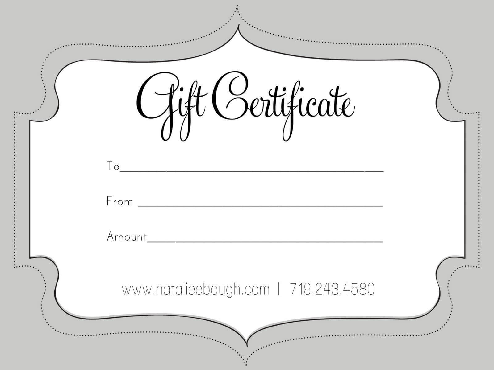 A Cute Looking Gift Certificate | Gift Card Template, Free Inside Black And White Gift Certificate Template Free
