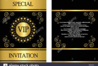 A Golden Vip Invitation Card Template That Can Be Used For regarding Event Invitation Card Template