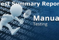 A Sample Test Summary Report – Software Testing within Test Closure Report Template