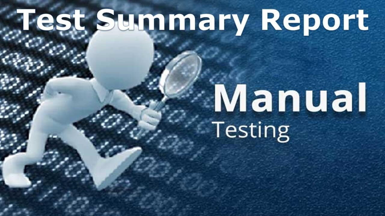 A Sample Test Summary Report - Software Testing Within Test Closure Report Template