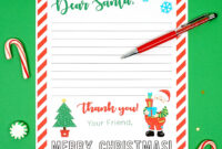 A305761 Free Printable Letter To Santa Claus Template For with regard to Letter From Santa Template Word