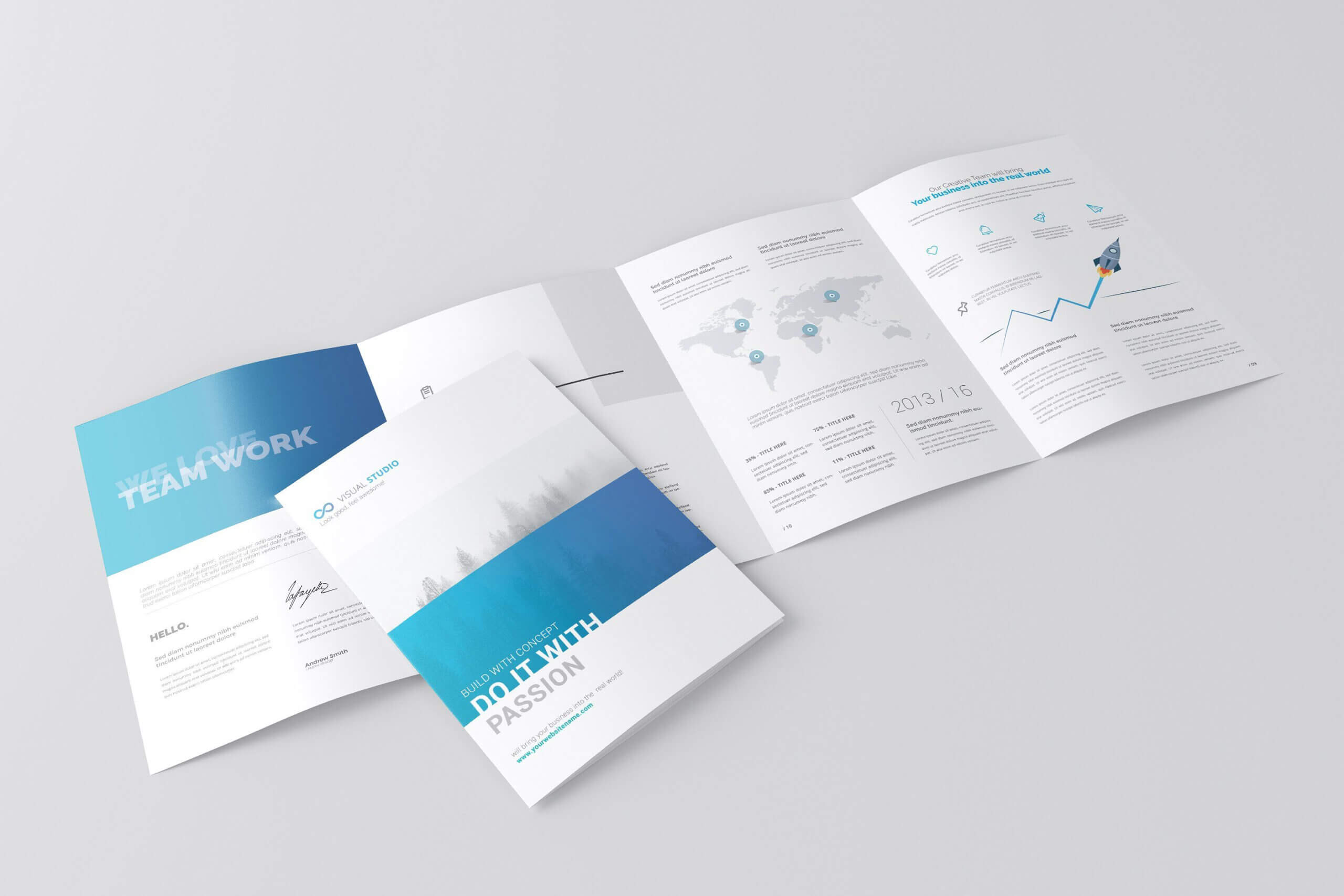 A4 4 Fold Brochure Mockuptoasin Studio On Within 4 Fold Brochure Template Word