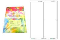 A4 Pre-Cut Multi Matte White Paper Labels (2X2, 4 Labels Per in Label Template 21 Per Sheet Word
