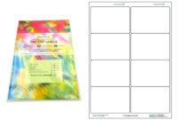 A4 Pre-Cut Multi Matte White Paper Labels (2X4, 8 Labels Per with Word Label Template 21 Per Sheet