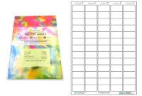 A4 Pre-Cut Multi Matte White Paper Labels (5X13, 65 Labels throughout Word Label Template 21 Per Sheet