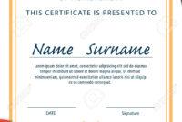 A4 Size Certificate Templates – Zimer.bwong.co Within Certificate Template Size