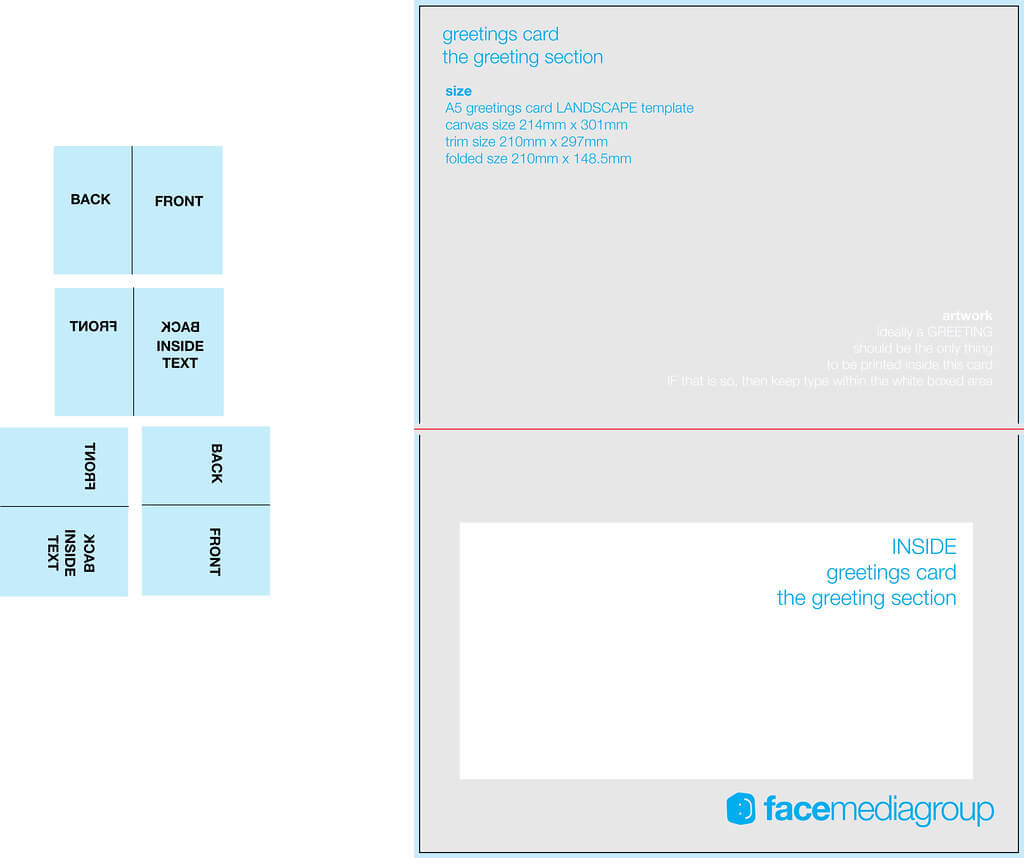 A5 Landscape Greetings Card Template - Tent Fold - Inside Regarding Birthday Card Template Indesign