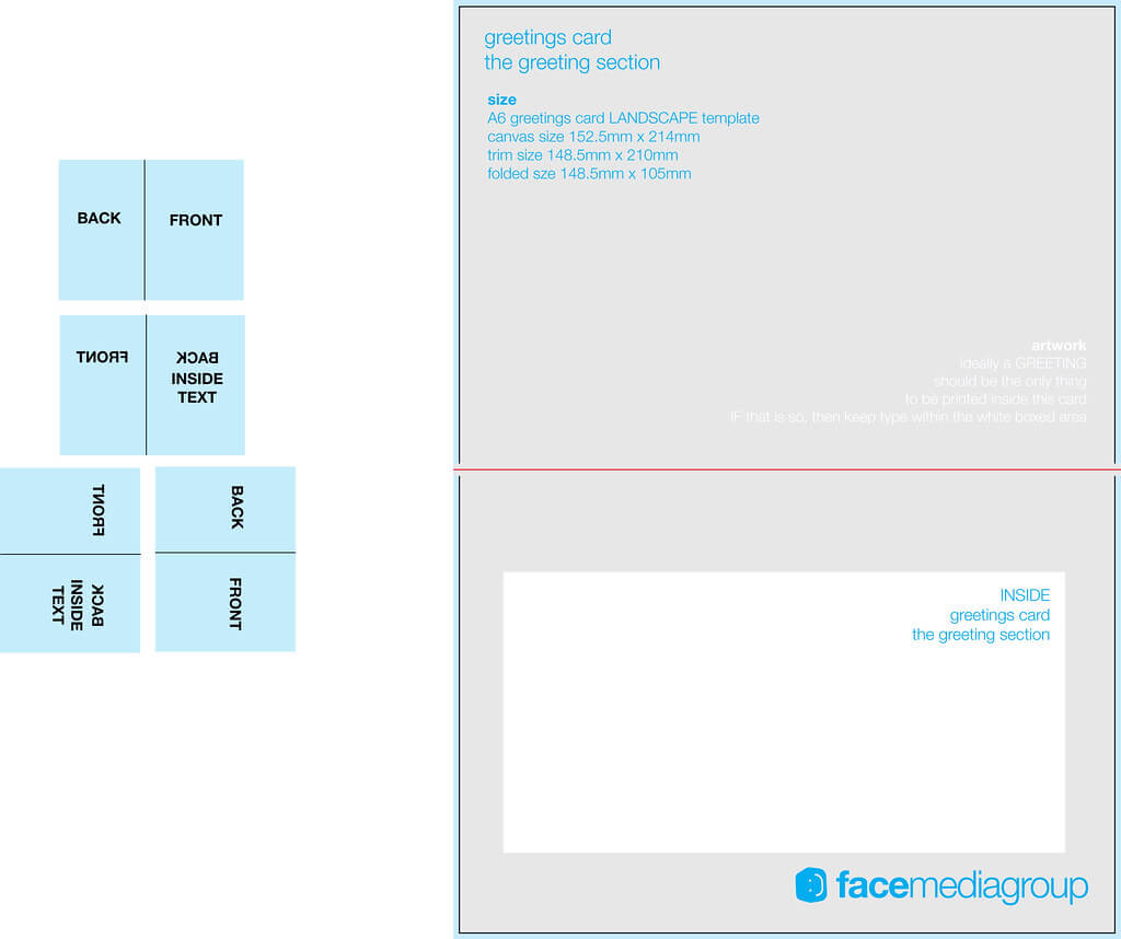 A6 Landscape Greetings Card Template - Tent Fold - Inside Regarding Birthday Card Indesign Template