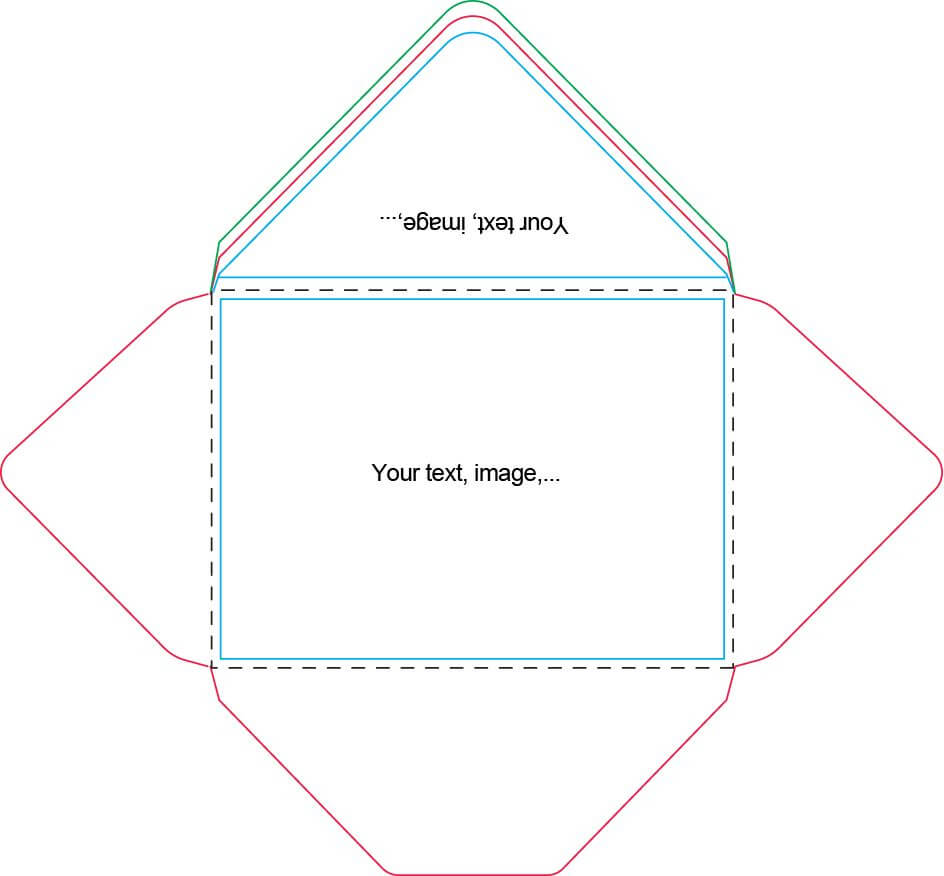 A7 Envelope Template | Card Making Tutorials, Card Making Pertaining To Envelope Templates For Card Making
