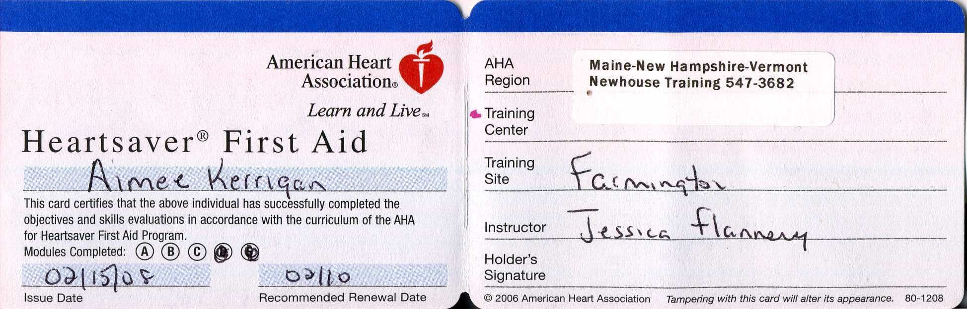 Aad3 Cpr Card Template | Wiring Library Intended For Cpr Card Template
