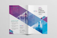 Abstract Bi-Fold Brochure Template Psd | Desain for Two Fold Brochure Template Psd