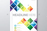 Abstract Colorful Triangle Background. Cover Design Template within Report Cover Page Template Word