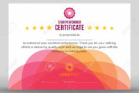 Abstract Creative Pink Star Performer Certificate in Star Performer Certificate Templates