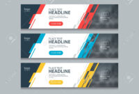 Abstract Horizontal Web Banner Design Template Backgrounds inside Website Banner Design Templates