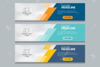 Abstract Web Banner Design Template Background in Website Banner Design Templates