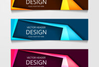 Abstract Web Banner Design Template Collection Of throughout Website Banner Design Templates