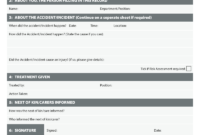 Accident, Injury, Incident Report Log Templates For regarding Incident Report Log Template