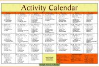 Activity Calendar Template – Printable Week Calendar with regard to Blank Activity Calendar Template