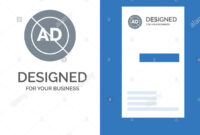 Ad, Ad Block, Advertisement, Advertising, Block Grey Logo within Advertising Card Template