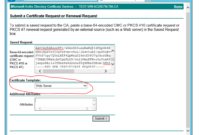 Ad Certificate Services – The Combobox To Select Template Is in Domain Controller Certificate Template