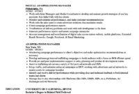 Ad Operations Resume – Zimer.bwong.co regarding Operations Manager Report Template