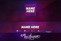 Ad4 Free Youtube Banner Avatar Revamp Rebrand Template with Banner Template Word 2010
