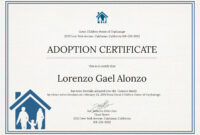 Adoption Certificate New Christening Certificate Template with regard to Blank Adoption Certificate Template